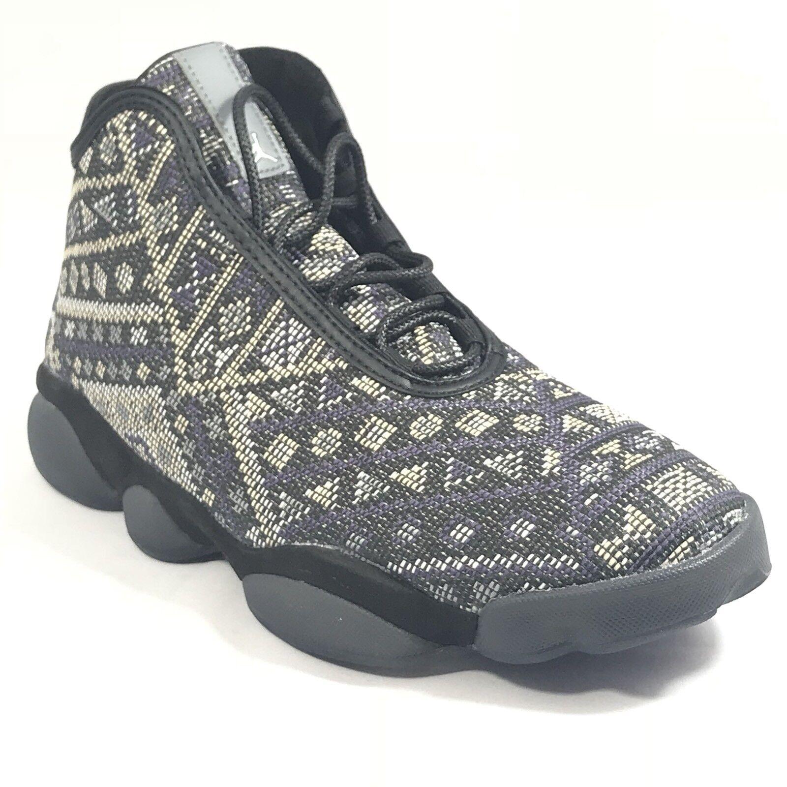 Nike Air Jordan Horizon Premium Size 10.5 Black Purple Steel Charcoal 822333 022