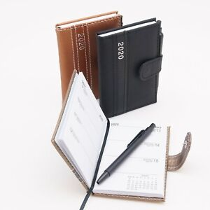 Taschenkalender-mit-Stift-2020-A7-Notiz-Terminplaner-Kalender-Timer-Buchkalender