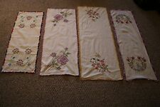 Lot of 4 Vintage Table Runners Various Designs and Sizes