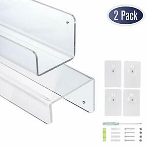 Clear-Acrylic-Floating-Wall-Shelves-17-Inch-Wall-Bookshelf-2-Pack