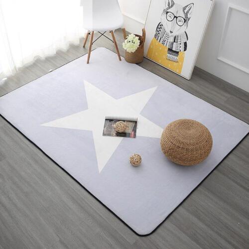 Korean Design Star Printed Carpet Anti-slip Floor Rug Bath Mat Soft Baby Carpets