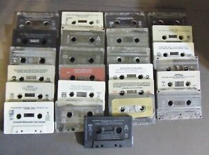 LOT-OF-25-CASSETTE-TAPES-FOR-CRAFTS-REPURPOSE-OR-PARTY-DECORATIONS
