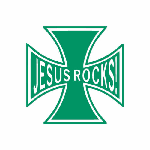 ebn408 Jesus Rocks Cross Vinyl Decal Sticker Multiple Color /& Sizes