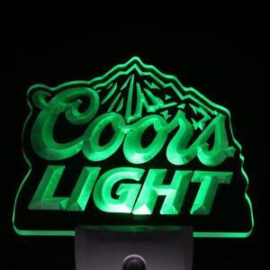 Green Coors Light Night Light Size 4 x 4 inch/ 100 mm x 100 mm mancave pub bar