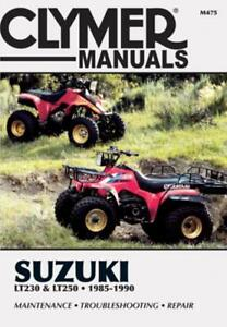 clymer atv workshop service repair manual suzuki lt f230 lt 230 s lt rh ebay com 1989 Suzuki LT230 Suzuki LT250S Plastics