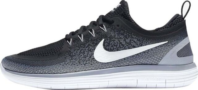 52e43a0625e27 Nike RN Distance 2 Mens Size 9 Running Shoes Black White Grey 863775 ...