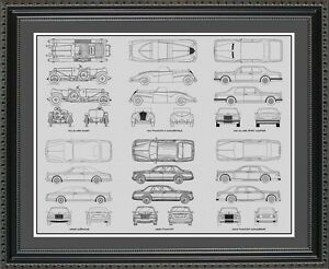 Blueprint art rolls royce auto collection car artwork gift print image is loading blueprint art rolls royce auto collection car artwork malvernweather Choice Image