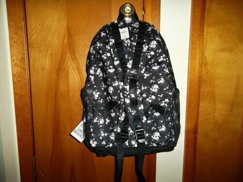 BRAND NEW Black White Floral Victorias Secret PINK CAMPUS BACKPACK
