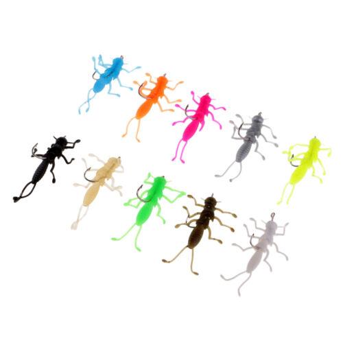 10 Stück Weichem Gummi Insekt Modell mit Beinen Angeln Kunst Köder mit