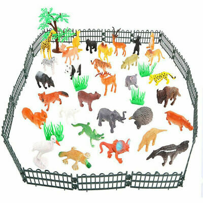 53X Plastic Wild Zoo Yard Animals Model Figure Kids Toys Both Indoor//Outdoor