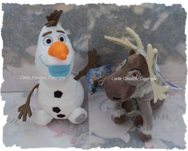 Lot De 2 Peluches Olaf Disney De La Reine Des Neiges et Sven .Cadeaux Doudou