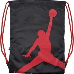 03ab34c08a61 Nike Air Jordan Jumpman Drawstring Gym Bag Sack Backpack Black Red ...