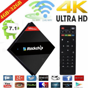 2018 Latest H96 MAX 4GB/32GB Android 7.1.2 TV Box  RK3399 Six Core H.265 4K DDR3 688948719958