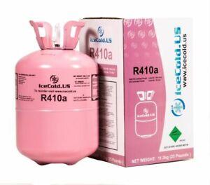 Details about R410A Refrigerant Sealed 25 lb Cylinder Virgin Tank 410a HVAC