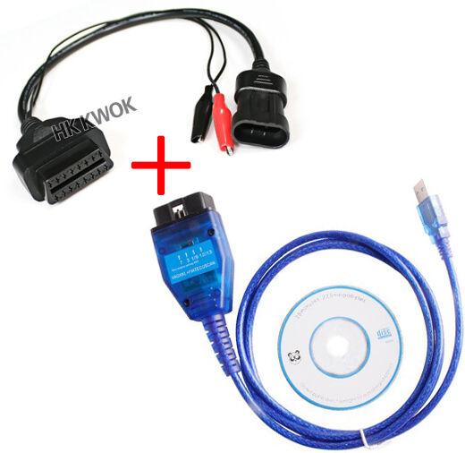 With Fiat 3 Pin OBD 2 Version VAG 409 KKL USB+Fiat Ecu Scan Diagnostic