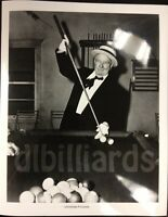Pool/billiards W.c. Fields Masse With Cue 8x10 Pool Player Still Unique Gift