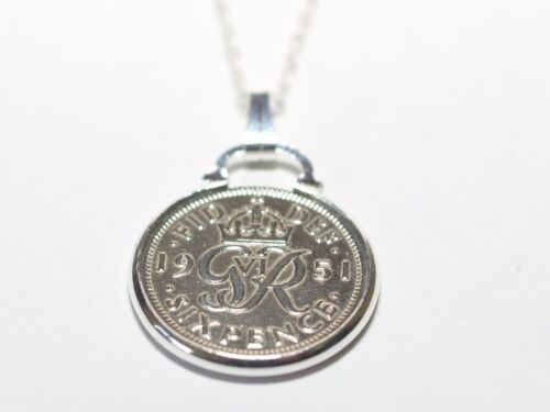 1946 73rd Birthday / Anniversary sixpence coin pendant plus 20inch SS chain gift