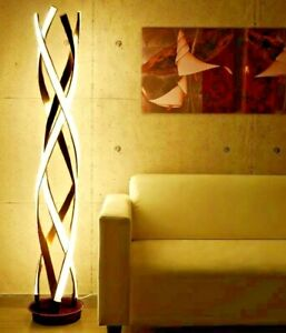 130cm LED Floor Lamp Three Colours Change Dimmable Remote Control Sleep Mode