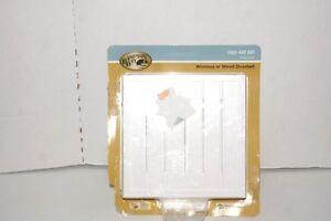 Hampton Bay White Bead Board Design Wireless or Wired Doorbell 1001 407 821