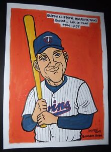Original-Cuban-Drawing-HARMON-KILLEBREW-Baseball-Hall-of-Fame-MINNESOTA-TWINS