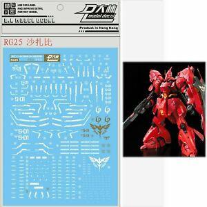 D.L high quality Decal water paste RG25 For Bandai RG 1//144 MSN-04 SAZABI Gundam