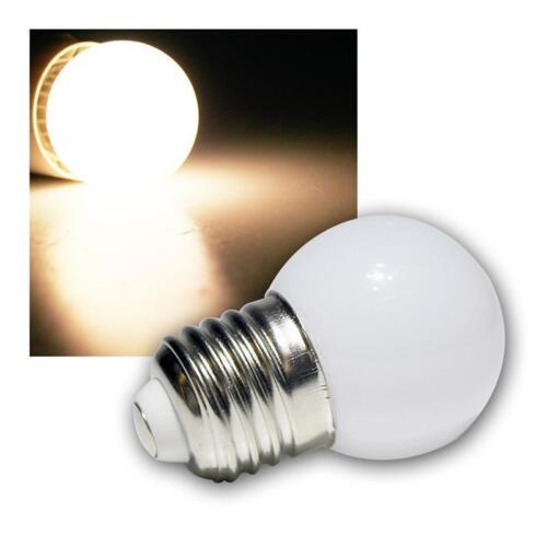LED Lampada Goccia e27 bianco caldo con 9 SMDs Pera 230v e 27 ZB per catene di luci