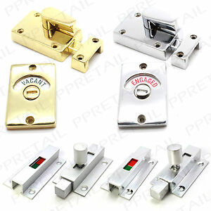 Astounding Details About Vacant Engaged Bathroom Door Lock Chrome Brass Silver Toilet Indicator Catch Interior Design Ideas Clesiryabchikinfo