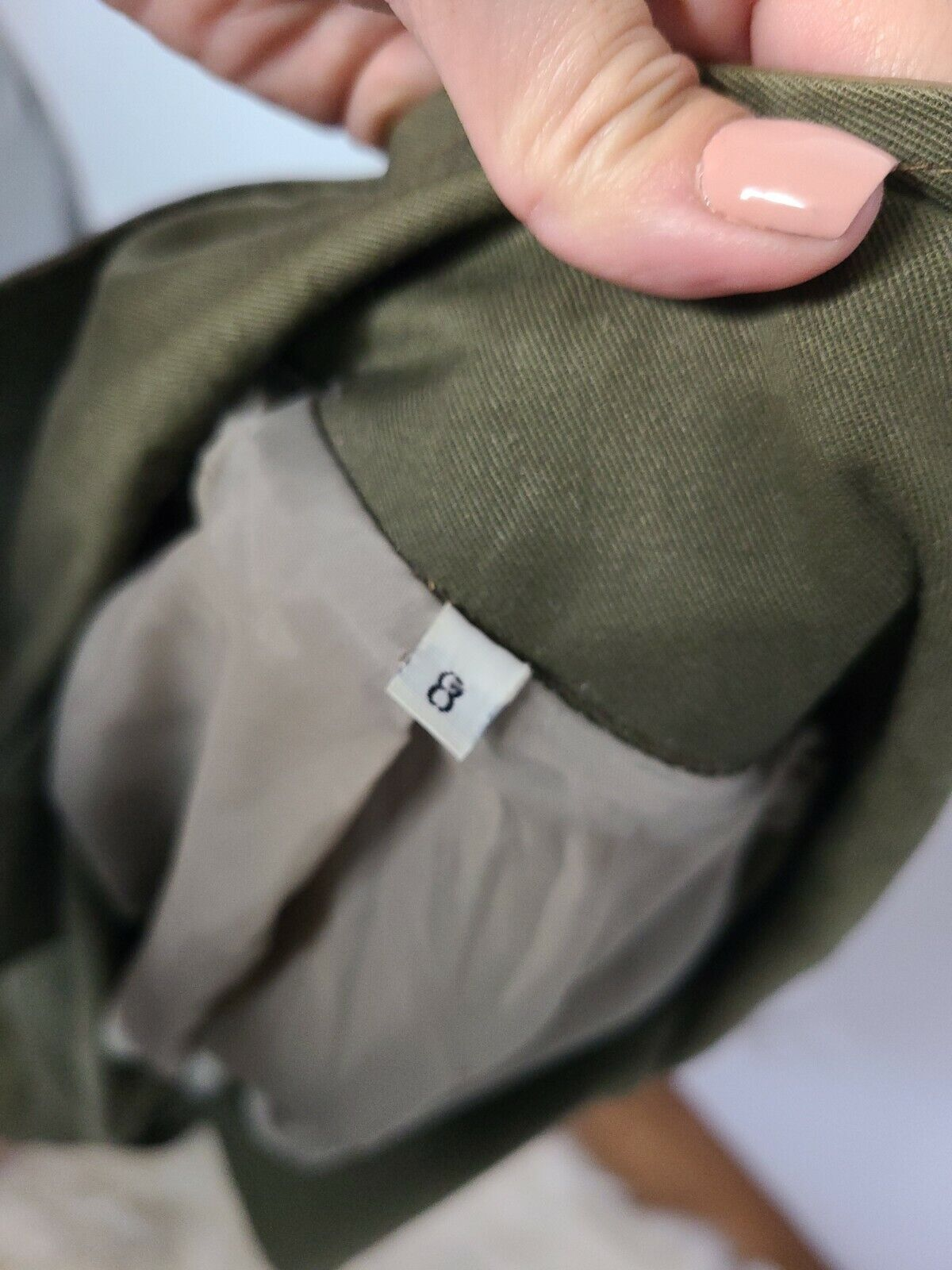 Classic Military Style Trench Coat, Olive Army Gr… - image 10