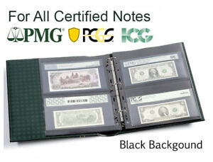 25-Album-Pages-For-Certified-Graded-PMG-PCGS-Banknote-Currency-Lighthouse-Grande