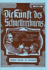 Die Kunst des Schnellrechnens Rechnen Kopfrechnen lernen Reprint ~1900