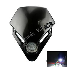 Motorcycle LED Head Light Dual Sport for Ducati Street Fighter Dirtbike Black
