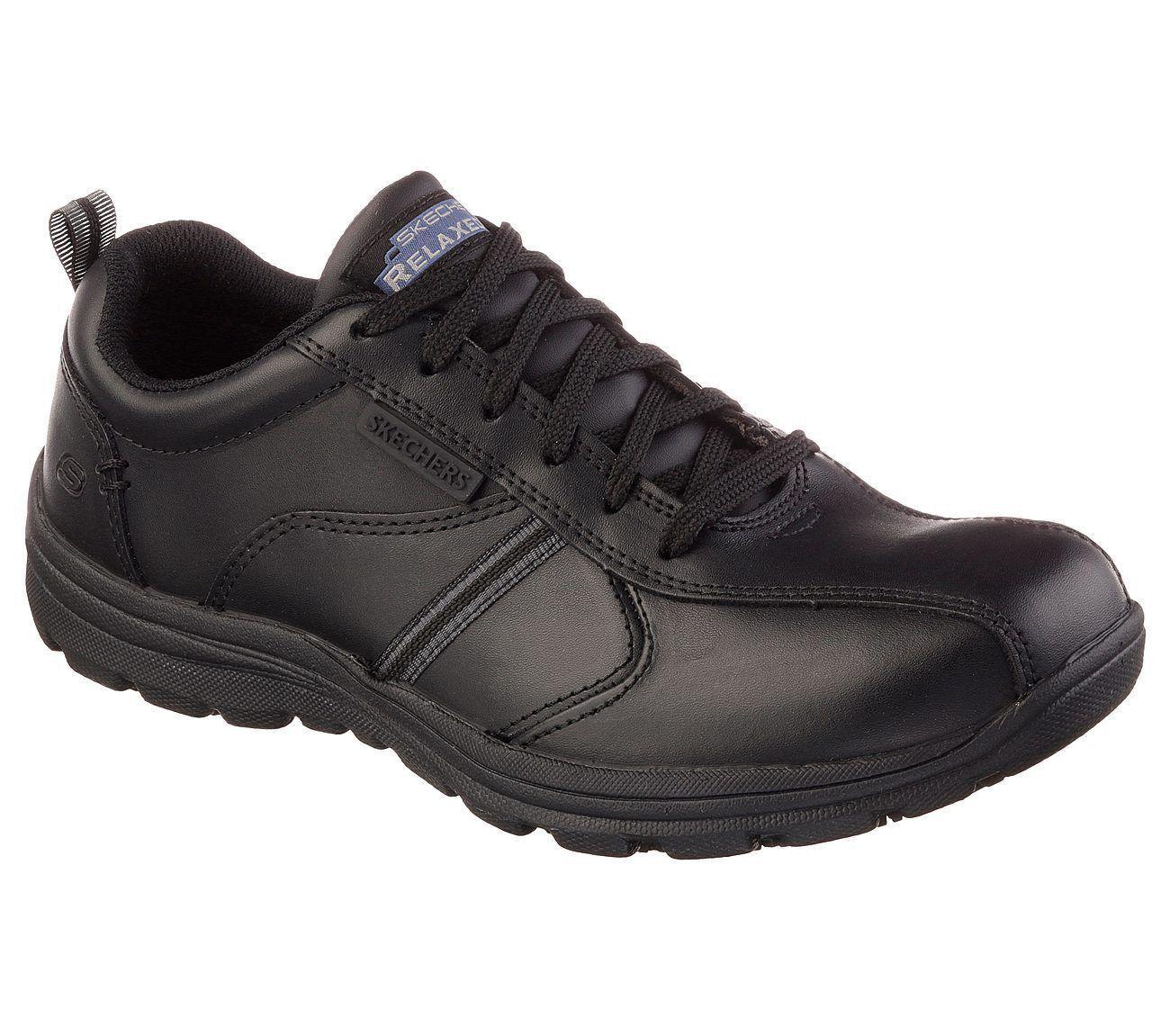 Skechers For Work 77036 Hobbes-Frat Noir Travail Baskets sz 6-13 infirmière de sécurité