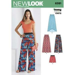 New-Look-Sewing-Pattern-6381-Misses-Ladies-Knit-Skirts-Pants-Shorts-Size-8-20-UC