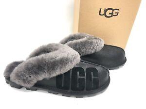 a10b2d91bae Details about Ugg Australia Coquette Sparkle Black 1098190 Women's Slippers  House Shoes Logo