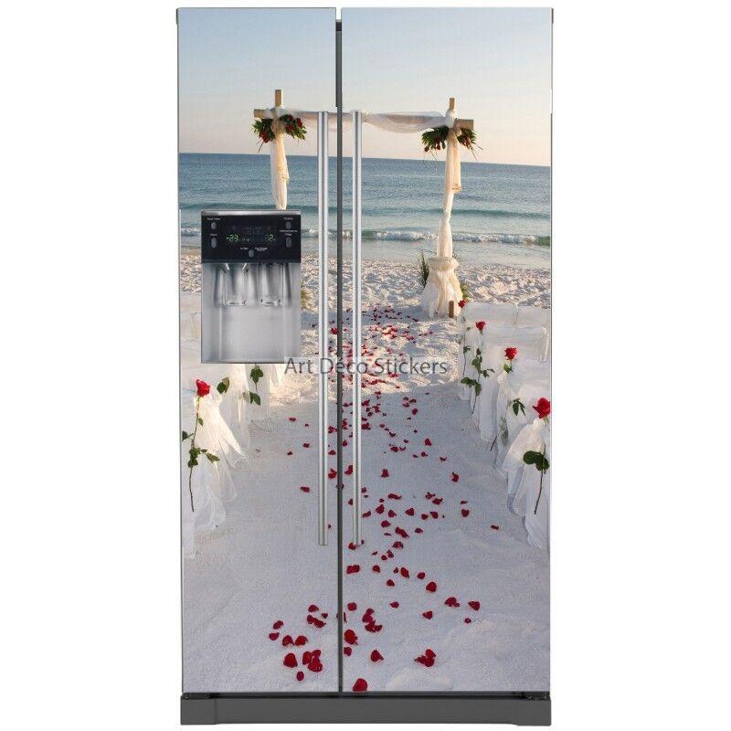Pegatinas nevera americana Playa flores flores Playa boda 5777 5777 61354b