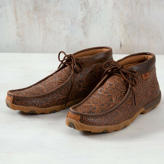 Twisted X All Over Tooled Moccasins