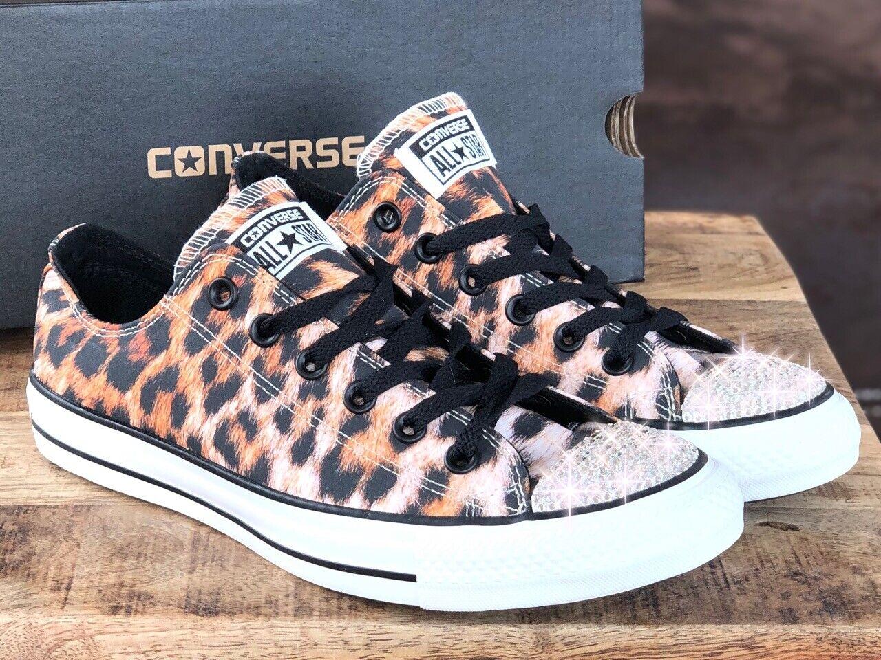Converse All Star Chuck CT OX with Swarovski Elements Luxury Sneaker Leo Print