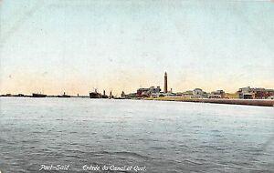 POSTCARD-EGYPT-PORT-SAID-Entrance-to-Canal-and-Quay