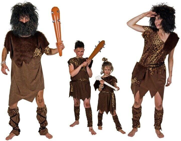 Kostüm Steinzeit-Mensch Neandertaler Damen Herren Kinder Familie Karneval | Spielzeug mit kindlichen Herzen herstellen  | Haltbar  | Online Outlet Store