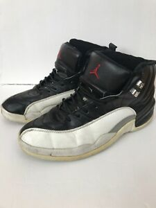 9ee7759c214db1 Nike Air Jordan XII 12 Retro Playoff Black White Men s Shoe Size 9.5 ...