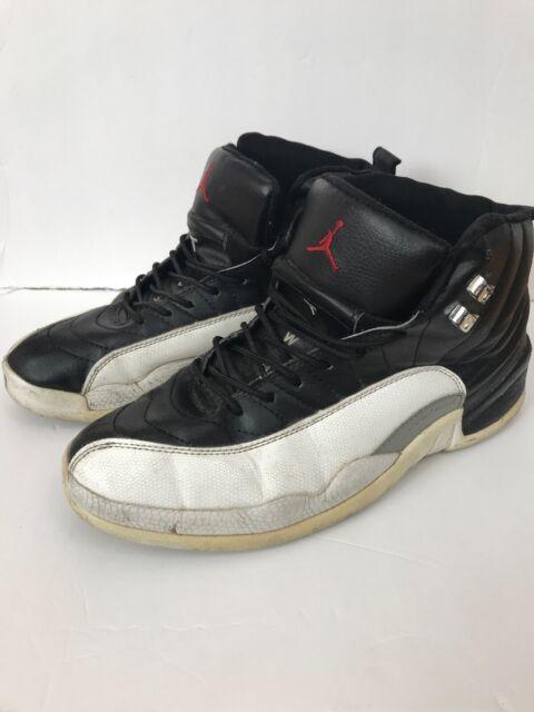 3487cd6543c861 Nike Air Jordan XII 12 Retro Playoff Black White Men s Shoe Size 9.5 130690 -011