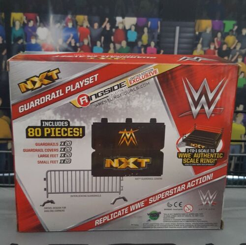 NXT Guardrail Playset WWE Wrestling Ring Figures Authentic Scale New Boxed