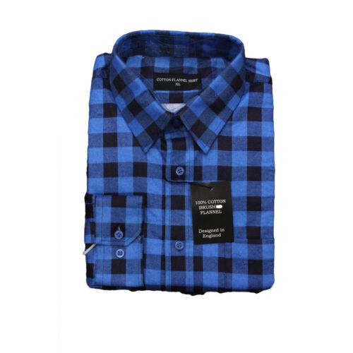 Camicie da Uomo Scacchi Lavoro Cotone Spazzolato Flanella Lumberjack camicia manica lunga M-2XL