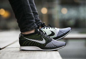 huge discount ea690 7c69a Image is loading Nike-Flyknit-Racer-size-13-Oreo-Black-White-