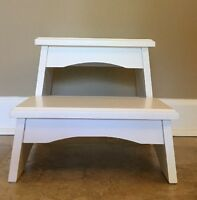 Pottery Barn Kids Step Stool Two Step White