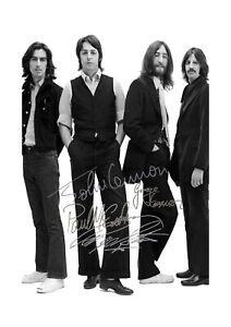 The-Beatles-6-A4-signed-photograph-poster-with-choice-of-frame