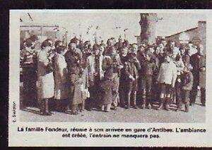1983 -- FAMILLE FONDEUR ARRIVEE GARE D ANTIBES P835 - France - 1983 -- FAMILLE FONDEUR ARRIVEE GARE D ANTIBES P835 il ne s'agit pas d'une carte postale , mais d'un beau document paru dans la rare vie du rail en 1983 le document GARANTI D'EPOQUE est en tres bon état et présenté sur carton d'encadrement for - France