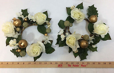 """Pair Apples and Pears Decorative Fruit Ivory and Black Melrose 5/"""" Artificial New"""