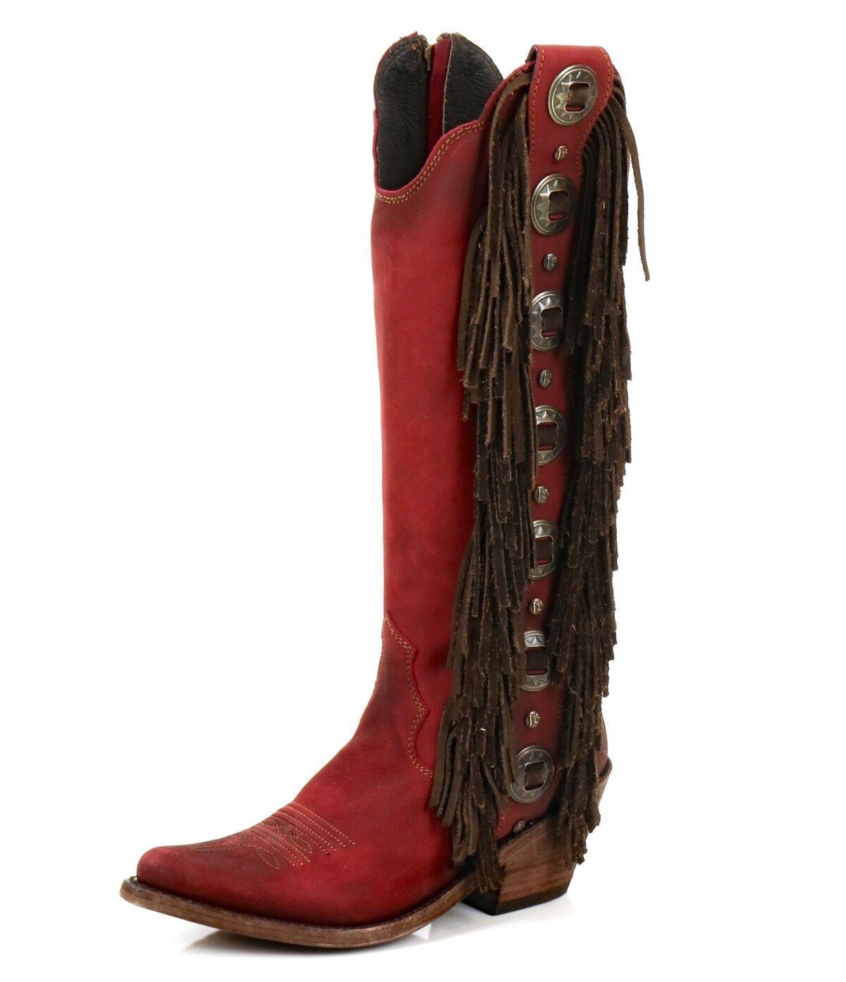 Liberty Black Black Black Vegas red Concho Fringe Boots LB712953 b6bb31