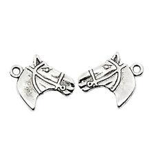 ❤ 10 x Tibetan Silver 3D HORSE HEAD Charms Findings 21mm UK Stock Jewellery ❤